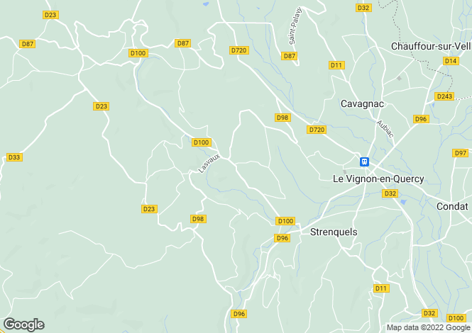 Map for Cazillac, Lot, 46600, France