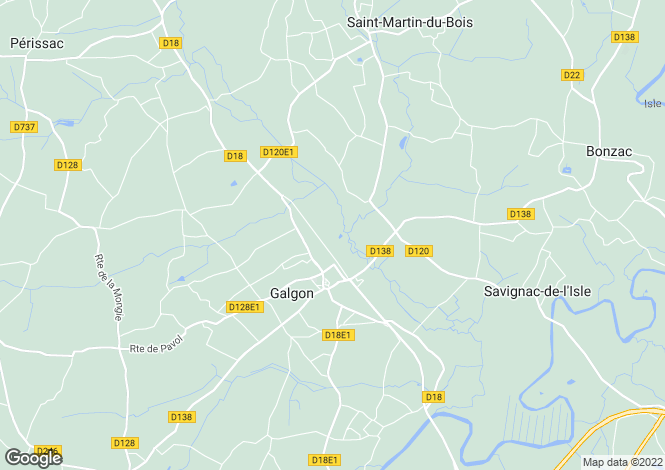 Map for libourne, Gironde, France