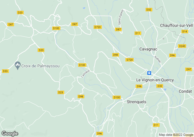 Map for cazillac, Lot, France