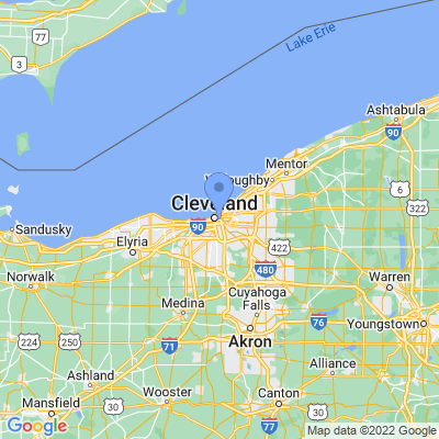 Map of truck driving jobs in Cleveland, Ohio