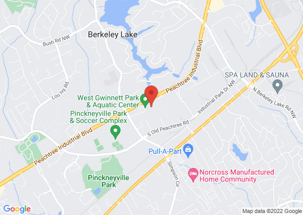 Map of 4488 Peachtree Industrial Boulevard, Norcross, GA, USA