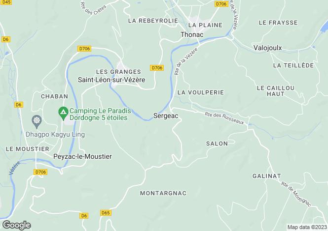 Map for sergeac, Dordogne, France