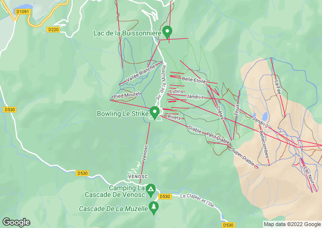 Map for The White Bear, Les Deux Alpes