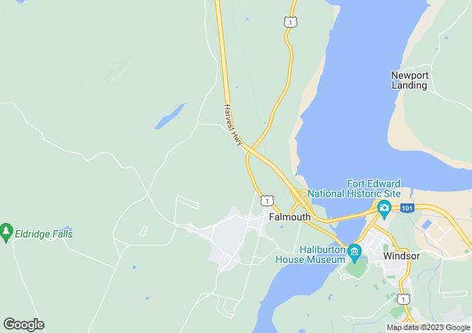 Map for Falmouth, Nova Scotia