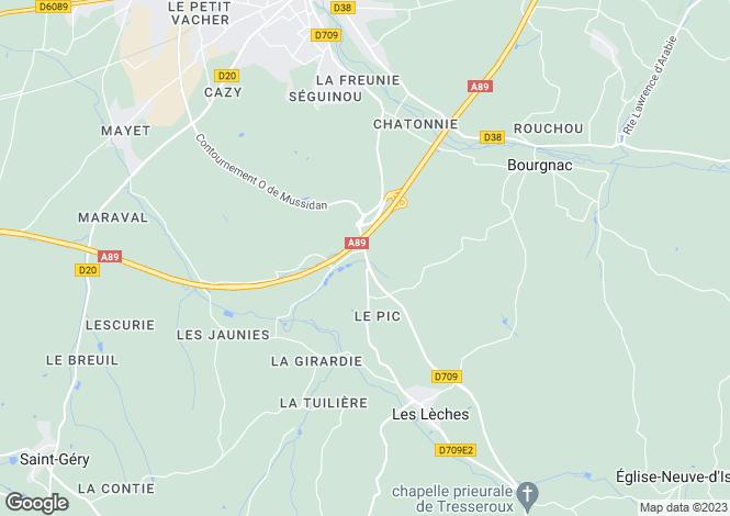 Map for les-leches, Dordogne, France