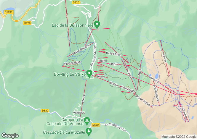 Map for les-deux-alpes, Isère, France