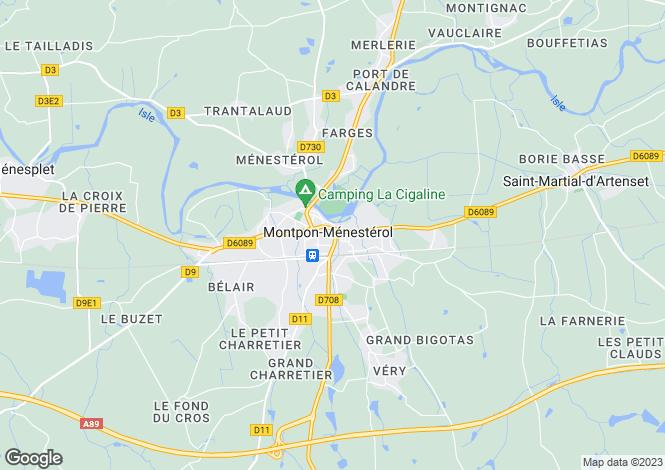 Map for Secteur: Montpon-Menesterol, Dordogne