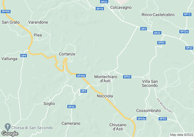 Map for Montechiaro d`Asti, Asti, Piedmont