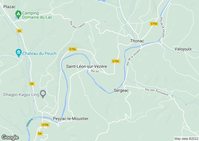 Map for st-leon-sur-vezere, Dordogne, France