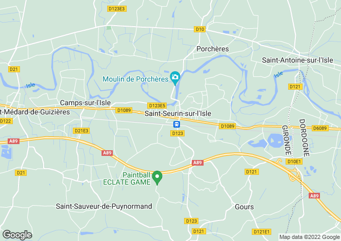 Map for saint-seurin-sur-lisle, Gironde, France