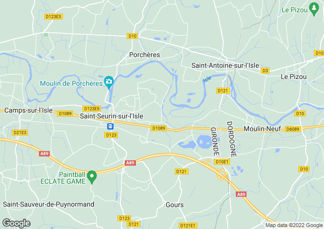 Map for St Seurin sur L'Isle, Gironde, 33660, France