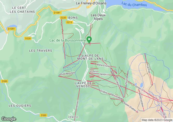 Map for Le Chalet du Soleil, Les Deux Alpes