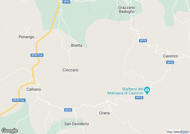 Map for Moncalvo, Asti, Piedmont