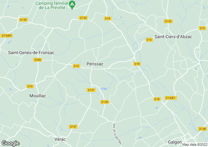 Map for perissac, Gironde, France