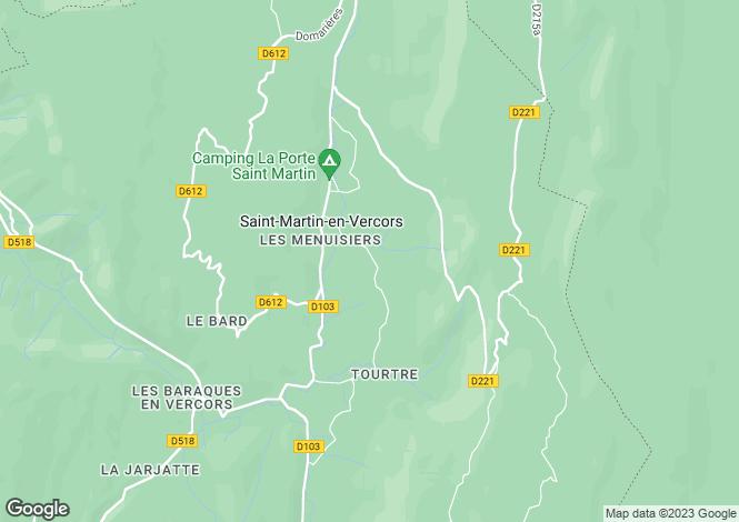 Map for Saint-Martin-en-Vercors, Drome, 26420, France