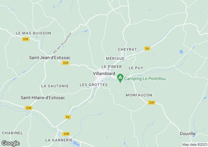 Map for Secteur:  Villamblard, Dordogne