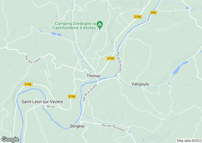 Map for thonac, Dordogne, France