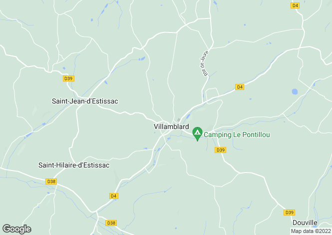 Map for Aquitaine, Dordogne, Villamblard
