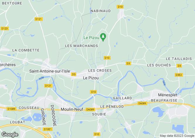 Map for Montpon, Dordogne, 24700, France