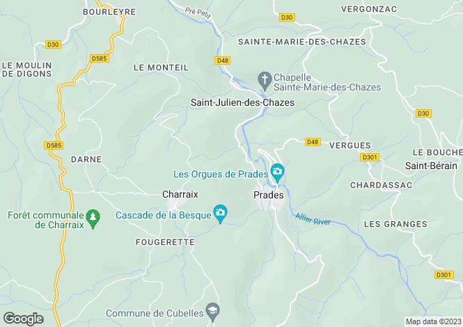 Map for Perpignan Area, Languedoc,