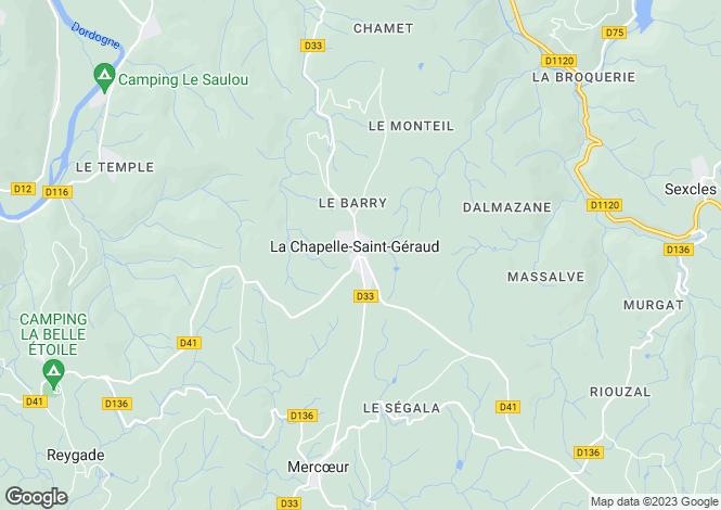 Map for La Chapelle St Géraud, Corrèze, 19430, France