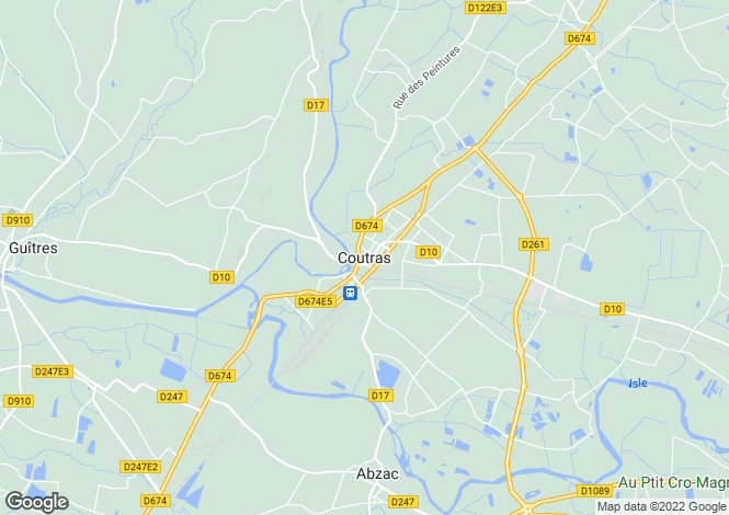 Map for Secteur: Coutras, Gironde