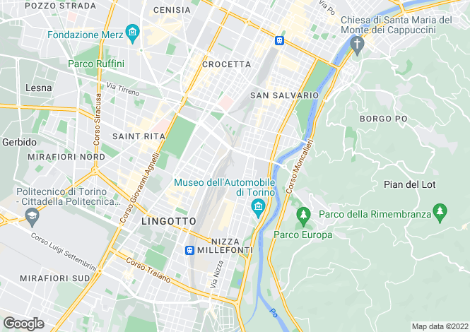 Map for Piedmont, Turin, Turin