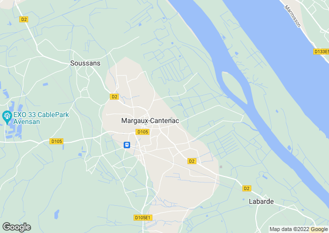 Map for MARGAUX, Bordeaux Area, S.W France - Aquitaine,