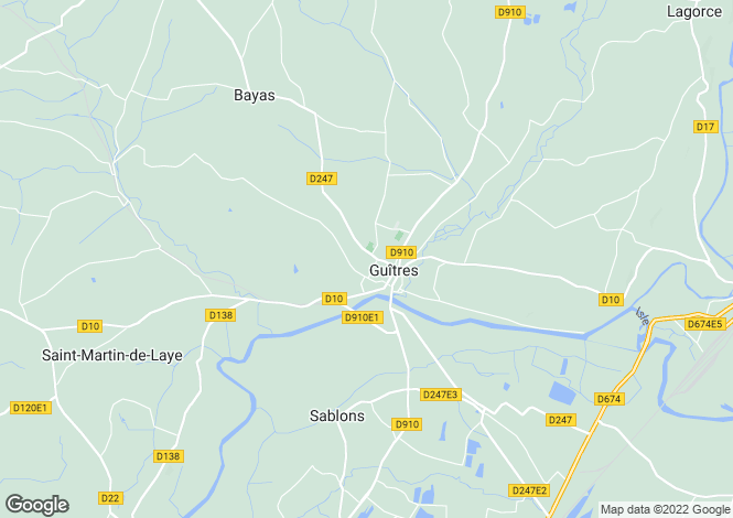 Map for guitres, Gironde, France