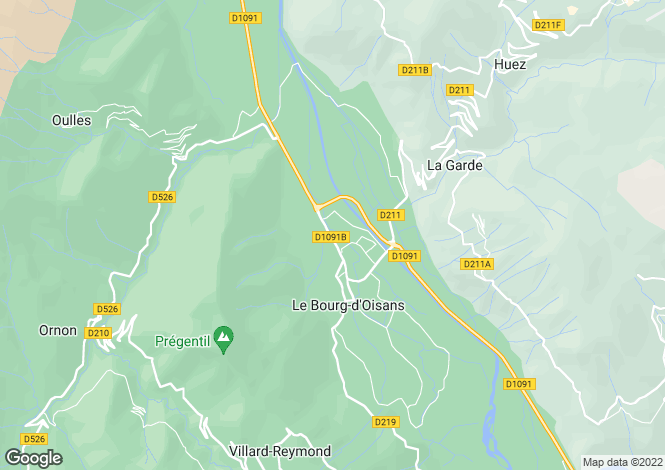 Map for le-bourg-d'oisans-38520, Isère, France