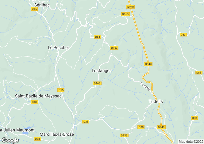 Map for Lostanges, Corrèze, 19500, France