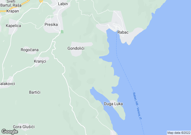 Map for Istria, Rabac