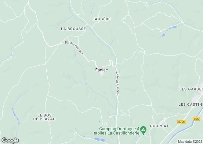 Map for fanlac, Dordogne, France