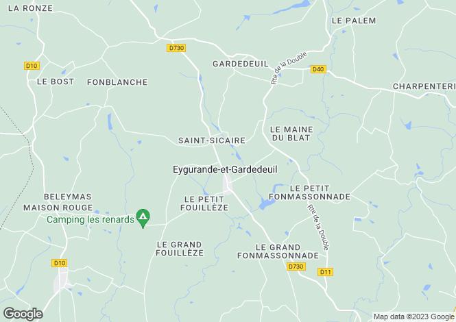 Map for Aquitaine, Dordogne, Eygurande-et-Gardedeuil