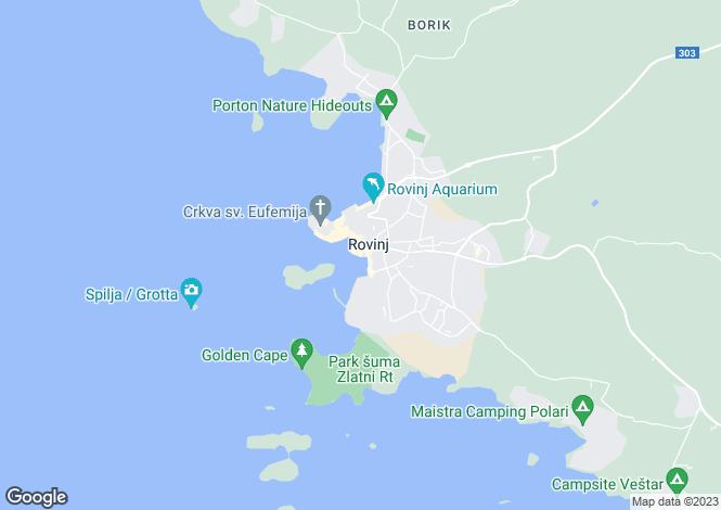 Map for Rovinj, Istria