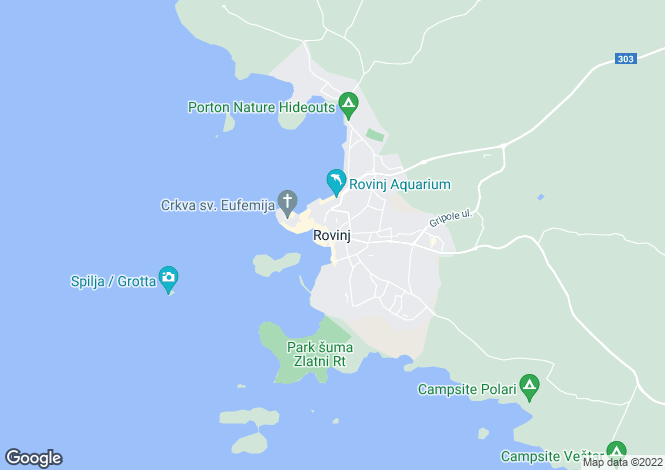 Map for Istra, Rovinj, Croatia