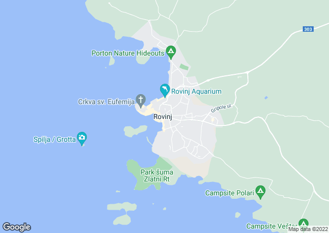 Map for Charming Stone Villa, Rovinj, Istria, Croatia