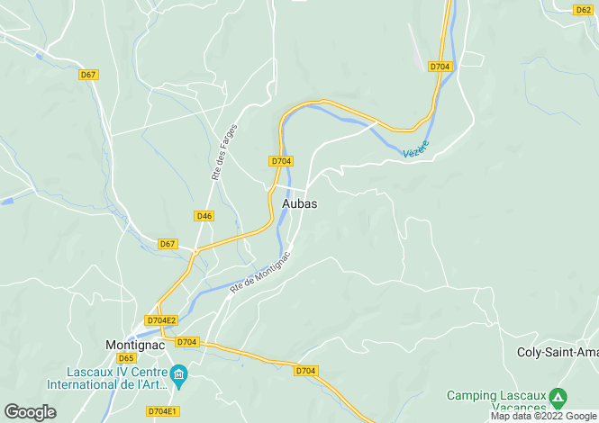 Map for aubas, Dordogne, France