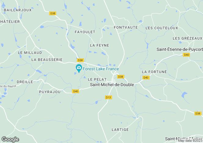 Map for Aquitaine, Dordogne, St-Michel-de-Double
