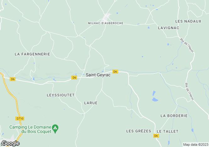 Map for st-geyrac, Dordogne, France