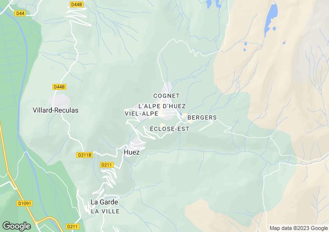 Map for Alpe d`Huez, Isère, Rhone Alps