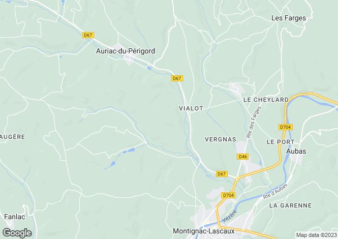 Map for Montignac, Dordogne, Aquitaine