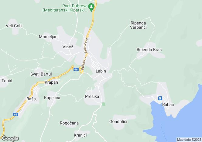 Map for Istra, Labin, Croatia