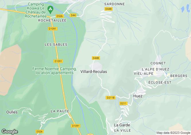 Map for villard-reculas, Isère, France