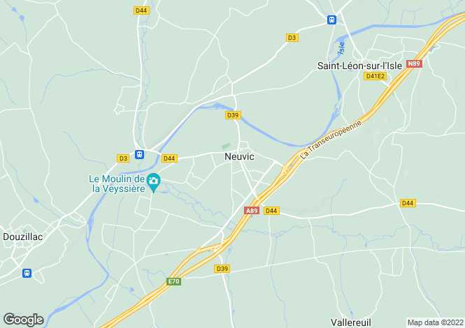 Map for Near Neuvic, Dordogne, Aquitaine