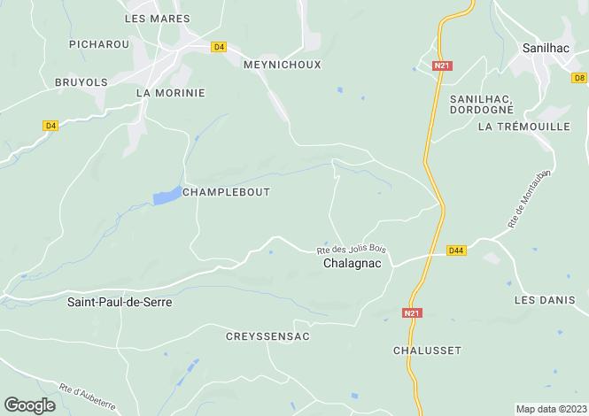 Map for Aquitaine, Dordogne, Chalagnac