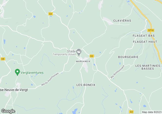 Map for marsaneix, Dordogne, France