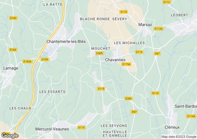 Map for chantemerle-les-bles, Drôme, France