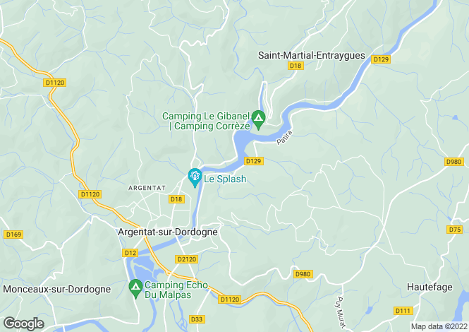 Map for Argentat-sur-Dordogne, Corrèze, 19400, France