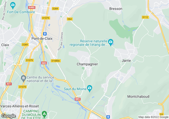 Map for CHAMPAGNIER